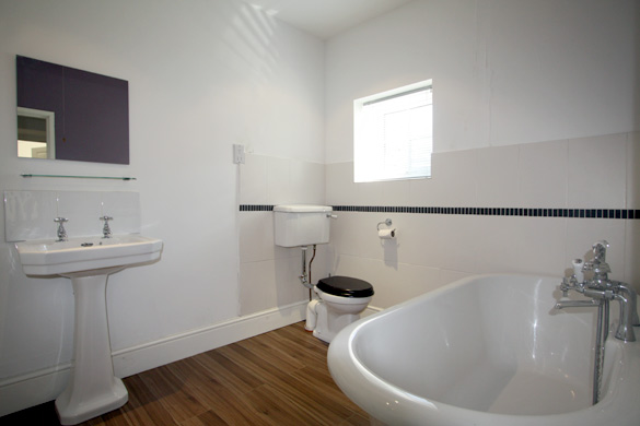 The downstairs bathroom: Croft House in the Lake District
