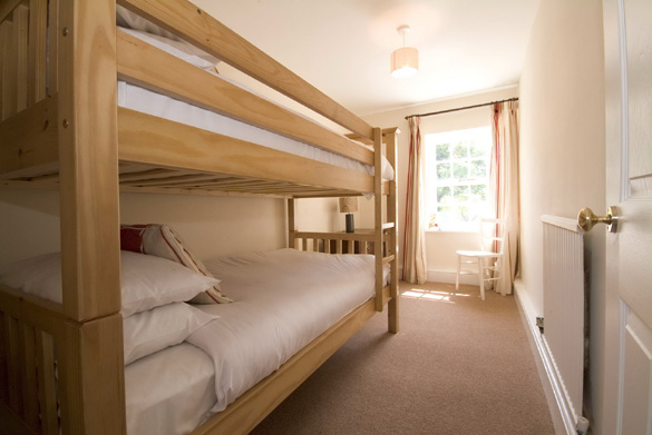 The bunk bedroom at Croft House in the Lake District